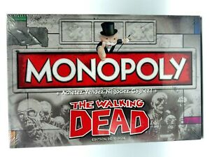 Monopoly The Walking Dead Game Company French New Sub Scello