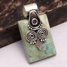 """Ruby Zoisite Ethnic Handmade Pendant Jewelry 1.4"""" AP 18768"""