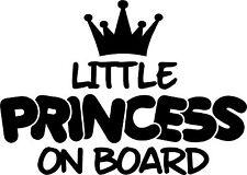 Little Princess On Board Autocollant Vinyle Autocollant Pour Voiture/Fenêtre/Mur