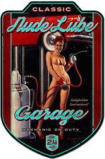 Nude Lube Plasma Cut Pin Up Metal Sign ( Greg Hildebrandt )