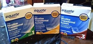 👌Equate Nicotine Trannsdermal Patches Three Step System Factory Sealed👍