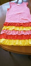 Very Good Condition Hannah Andersson Size 14 Ruffle Summer Sun Dress