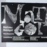 Mathieu Matégot - Klaus Schulze Plakat Ausstellung 60er Jahre Entwurf Tafelmaier