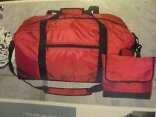 24'' black duffle bag with bonus square bag for toiletries or extra storage