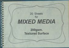 "A pad of 20 sheets for "" MIXED - MEDIA  EXPERIMENTATION """