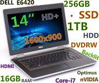 """# 3D-Design DELL E6420 Core-i7 (256GB SSD + 1TB) DVDRW 16GB nVIDIA Backlit 14"""""""