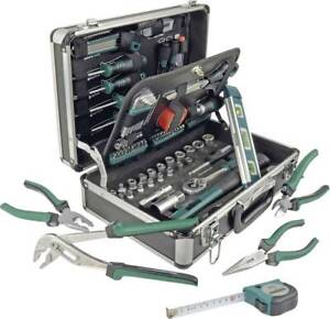 Brüder Mannesmann M29067 Heimwerker Werkzeugkoffer bestückt 90teilig (L x B x H)