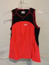 Louis Garneau Women's Comp Sleeveless Triathlon Top Medium Black/Pink