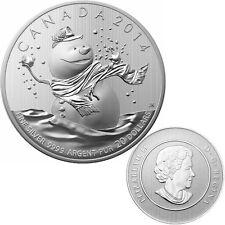 2014 Canada $20 Fine Silver Coin - Snowman