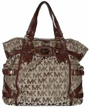 NEW-MICHAEL KORS GANSEVOORT BEIGE,MOCHA LARGE NS TOTE TOP HANDLE HANDBAG