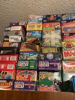 LOT OF UNOPENED FOOTBALL PACKS sealed football packs vintage football packs