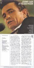 """Johnny Cash """"At Folsom Prison"""" 16 Songs! Werk von 1968! 3 x Platin! Nagelneue CD"""