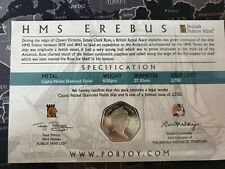 NEW 50 PENCE 2020 HMS EREBUS LIMITED EDITION 50p only 2750 issued from mint