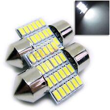 UK x2 c5w 28mm Auto Interni Festone Bianco 6500k LED 24 SMD LAMPADINA 12v