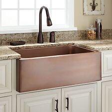 """Signature Hardware 30"""" Kembla Copper Farmhouse Kitchen Sink NEW in MFG Box"""