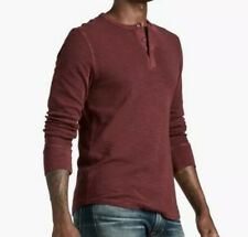 Lucky Brand Mens Size M Lived In Thermal Henley Long Sleeve Tee Shirt
