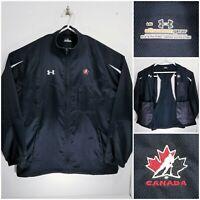 Under Armour Hockey Canada Mens Large Full Zip Jacket Team Canada Black