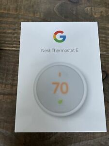 Google Nest Thermostat E - Programmable Smart Thermos for Home T4000ES New White
