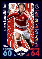 Match Attax 2016-2017 Grant Leadbitter Middlesbrough Captain No. 209