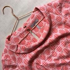Pepperberry Bravissimo Jacquard Coral Pink Dots Smart Office Top Blouse 16 Curvy