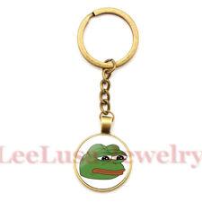 "Pepe ""Feels Bad Man"" Enamel Keyring On Brass Key Chain - MAGA TRUMP MBGA Frog"
