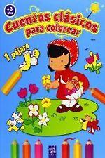 Cuentos clasicos colorear +3 años. NUEVO. Nacional URGENTE/Internac. económico.