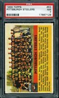 1956 TOPPS #63 STEELERS TEAM PSA 7 *DS2267