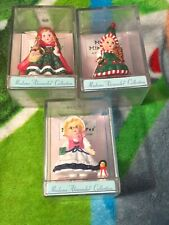 Lot3 Hallmark Merry Miniatures Madame Alexander Collection With Plastic Cases
