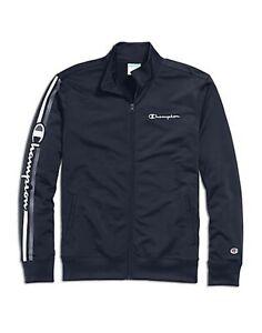 Champion Men's Track Jacket Navy 2xl  a7