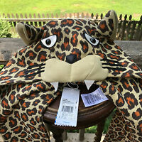 RARE Adidas Originals ObyO Jeremy Scott JS Leopard Hood Snood Scarf Shawl Z33096