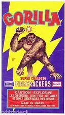 Firecracker Gorilla Image Refrigerator / Tool Box Magnet Man Cave