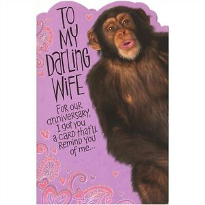 AG Anniversary Card: Darling Wife...I Got You a Card That'll Remind You of Me...