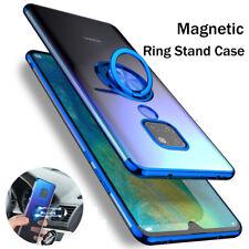 Für Huawei Mate20 P20 Magnetisch Ring Halterung Transparent Sanft TPU Handyhülle