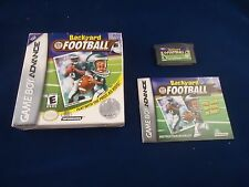 Backyard Football  (Nintendo Game Boy Advance, 2002) Near Complete w/ Box manual