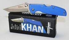 Cold Steel KHAN Pocket Knife Thumb Hole Opening Plain Edge Blade 54T