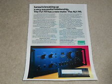 Sansui 1978 TU-717 Tuner, AU-719 Amplifier Ad, 1978, 1 page, Article