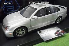 TOYOTA ARISTO V300 Silver gris à l'échelle 1/18 AUTOart 70045 voiture miniature