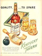 1948 Kentucky Tavern PRINT AD Bowling Theme lighter Fun Artwork Decor