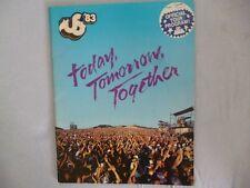 Tour Programme US Festival 1983 San Bernadino U2 Bowie The Clash Ozzy Van Halen