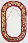 Shrine Shriner Chain Collar Gold with Red Felt Backing Mason Freemason Masonic