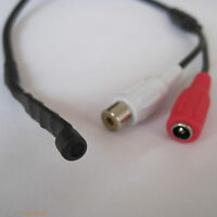 sound pick-up recording audio mic microphone security cctv cord cable Red white