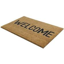WELCOME DOOR MAT ENTRANCE INDOOR / OUTDOOR, 100% NATURAL COIR QUALITY,PVC BACKED