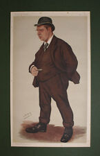 ORIGINAL VANITY FAIR PRINT of ROWLAND HILL by SPY 1890 ANTIQUE RUGBY PRINT
