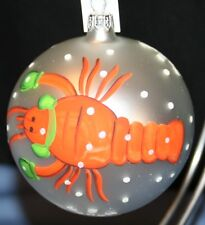 Lobster NIB Glass Hand Painted Christmas Ornament Trimsetter Dillards Italy