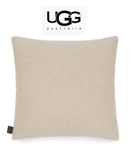 "UGG Australia Sand Fjord Throw Pillow Soft Neutral 20"" 20x20 NEW tags attached"