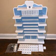 Pillsbury Doughboy Danbury Mint 1997 Wood Calendar Shelf Numbers- Blank Tiles