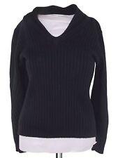 fdn men's wear maglione uomo nero shawl amde italy taglia s small