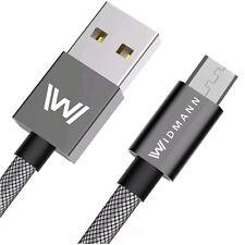 1m Widmann Micro USB Ladegerät USB Ladekabel für HTC Sony Samsung S6, S7 ✔ 2,4A