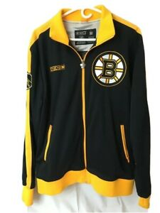Boston BRUINS Officiallly Licensed NHL Stanley Cup Tracker CCM Jacket,