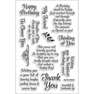 """""""Stampendous Perfectly Clear Stamps 4""""""""X6""""""""-Friendly Phrase"""""""